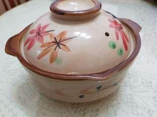 Claypot earthen ware clay pot 7.5 inch cooking sesame chicken