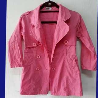 7-9 Girls pink  trench coat