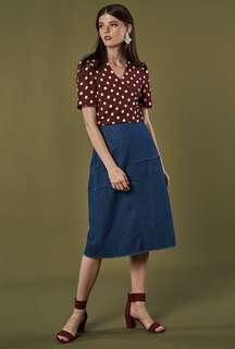 🚚 BNWT TCL Sonia Denim Midi Skirt