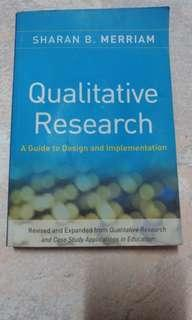 Qualitative Research 質化研究  A Guide to Design and Implementation
