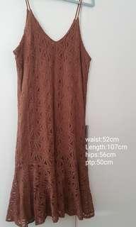 Brand New lace brown dress... price reduced to go
