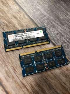 2 x 2GB 2Rx8 ddr3- 100% working