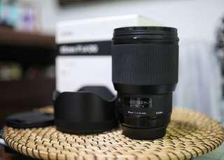 Sigma 85mm f1.4 Canon mount