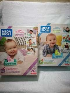 MEGABLOKS baby first year milestone 20pcs