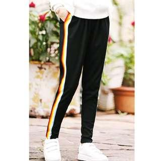🆕Rainbow Joggers Long Pants Men Women Korean Fashion🆕