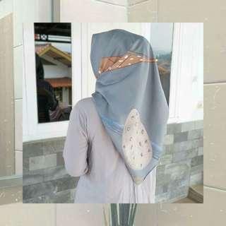 NEW!! Hijab square Polycotton leaf edition