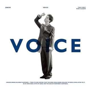 Onew (SHINee) - Voice | 1st Mini Album | Album | PO