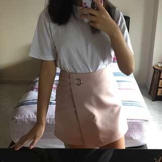 #next30 Pale Pink A Line Highwaist Skirt