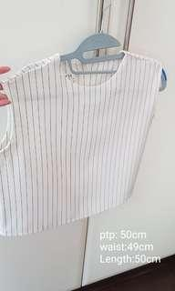Brand New black n white stripe top..price reduced to go