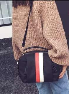 Nylon Korean Style Waterproof Sling Bag