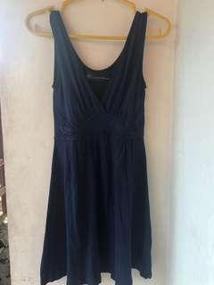 Mini dress warna biru dongker. Merek ZARA. Ori!!