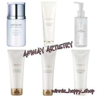 Amway artistry make up remover polishing exfoliant deep cleansing mask uv protect sunscreen cleansing oil creamy massage