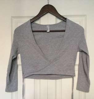 Grey American Apparel Crop Top