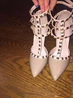 Nude Valentino Inspired Shoes