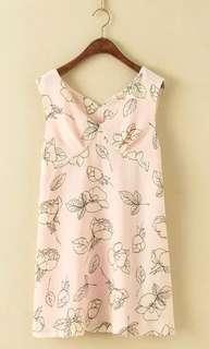 🌺🌿print jumper dress