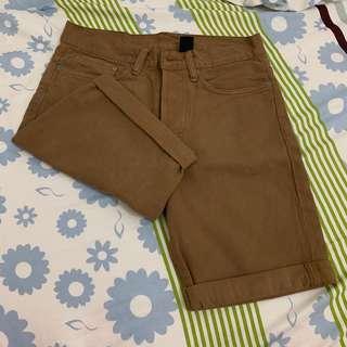 Celana Jeans Pendek Pria H&M Coklat