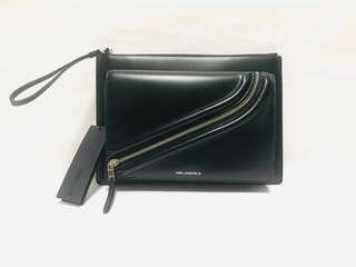 KARL LAGERFELD LEATHER POUCH