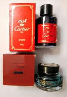 Cartier 及 Dupont 藍色墨水(2樽計)
