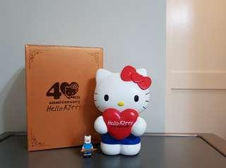 Hello Kitty Big and Heavy Ceramic Coin Bank 40th Anniversary