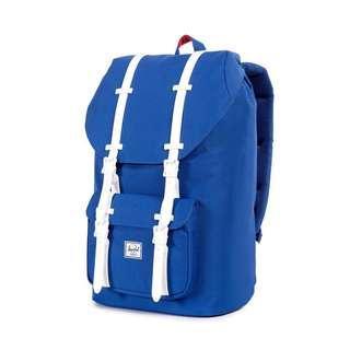 Authentic Herschel Little America Backpack ultramarine/white