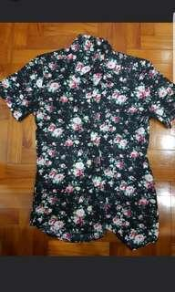 Men Korean Design Floral Tee