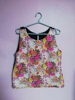 Jewels Floral Sleeveless Top