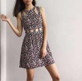 H&M Floral CutOut Dress