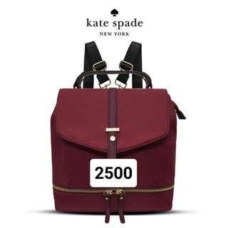 Kate Spade Maroon Bagpack