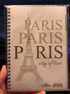 Notebook with Paris design and hard cover