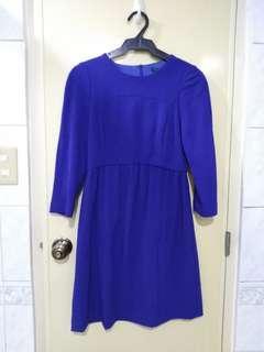 Zara basics royal blue dress
