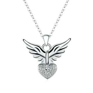 Limited💥Attractive 925 Sterling Silver Angel Heart Pendant Necklace