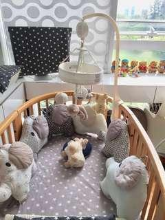 Baby crib bumpers (12pcs)