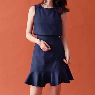 Scarlett Pinafold Ruffles Dress