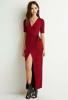 Forever 21 wrap maxi dress