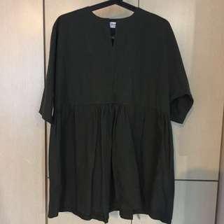 Dark army green babydoll Dress