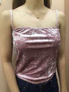 Forever 21 Pink Velvet Bodysuit