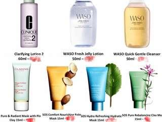 PROMO 💖 Clarins & Sheseido & Clinique (2 items for RM70)