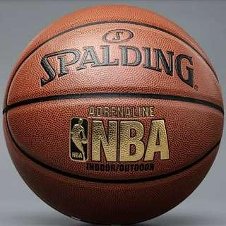 "🚚 Authentic Spalding Basketball ""Adrenaline"" Indoor/Outdoor Ball Bag, Pump, Mini Ball, Needle"