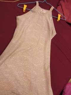 Halter dress glittered