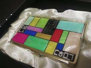 [極平讓]超精美韓國製卡片盒 玻璃面 尊貴體面 個人氣派