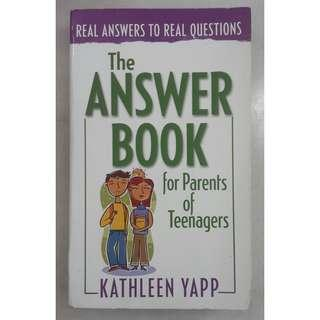 The Answer Book for Parents of Teenagers by Kathleen Yapp #TGV3