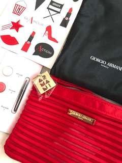 全新 Giorgio Armani 化妝袋 4件 set