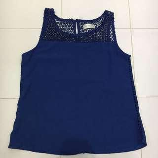 Hnm Lookalike Lace Blue Top