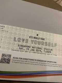 1x BTS Cat 1 Yellow 1 Tickets