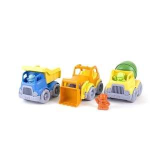 Green Toys Construction Trucks Gift Set, Pack of 3