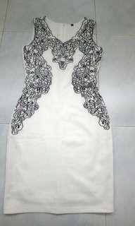 Love and Bravery White embroidery shift dress