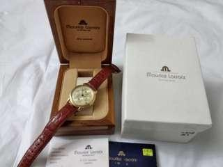 """Maurice Lacroix """"Regulator et Date"""" in Gold Plated Case Watch"""