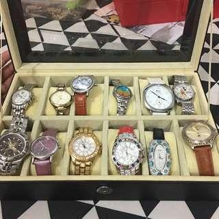 FOSSIL, LAMER, BCBG MAX ATRIA, JUICY COUTURE, LORUS WATCHES