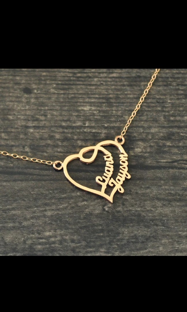 c666fc0617 2 for $30*Romantic Gift* Custom Couple Names necklace, Women's ...