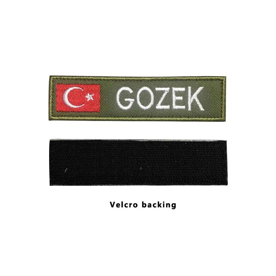🆕🆒 CustomMilitary Name embroidery Patch Army Green patches